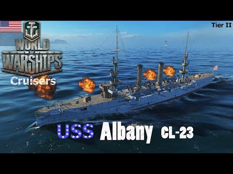World of Warships - Cruisers - American Tier II - USS Albany