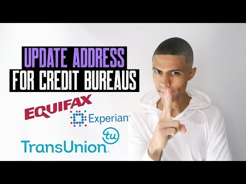 DON'T FORGET TO UPDATE ADDRESS AND NAMES FOR CREDIT BUREAUS