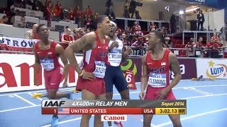 USA breaks World Record in Men's 400mx4 Relay - Universal Sports