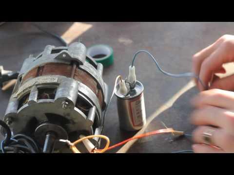 Как подключить двигатель с конденсатором