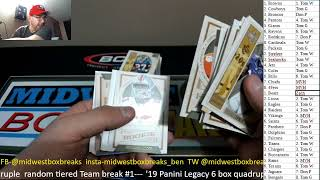 Midwest Box Breaks Panini Legacy Football Release Night