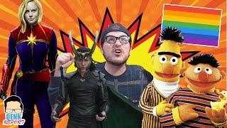 Capitana Marvel tráiler y reacción - Loki: Serie de TV - ¡Beto y Enrique son gays! | QR