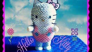 Origami 3D Hello Kitty tutorial ita