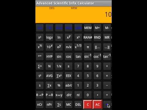 Scientific Calculator | Advanced Scientific Infix Calculator