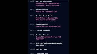 horario oficial de la clashcon y todos los detalless del evento - clash of clans.