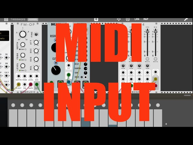 miRack AUv3 - Tutorial: Exploring the app Part 3, Midi input