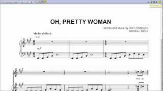 Oh, Pretty Woman by Roy Orbison - Piano Sheet Music:Teaser