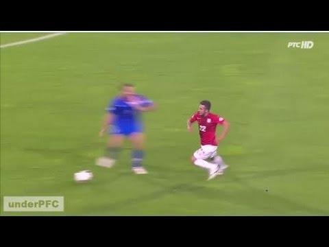Simunic vs. Sulejmani - Brutal foul - Red Card Simunic (Serbia vs. Croatia 1-1, 06/09/13)