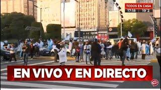 Marcha contra la reforma judicial en el Obelisco
