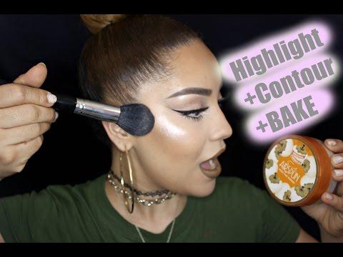 HOW TO: DRUGSTORE Hightlight+Contour + BAKE | SAZY
