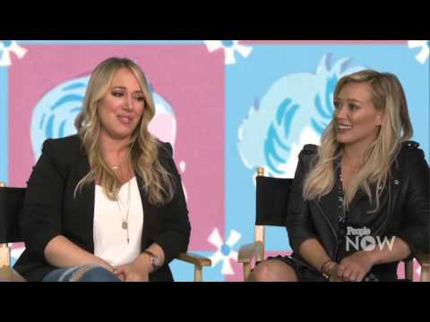 Hilary Duff and Haylie Duff at People Now