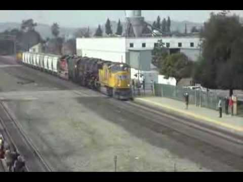 Union Pacific Big Boy 4014 moves to West Colton 1-26-14