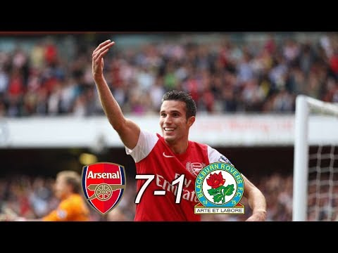 Arsenal 7-1 Blackburn Rovers Highlights & Goals 04/02/2012