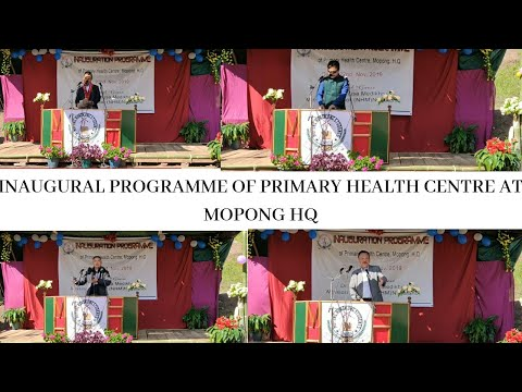 INAUGURATION PROGRAMME|PRIMARY HEALTH CENTRE MOPONG HQ