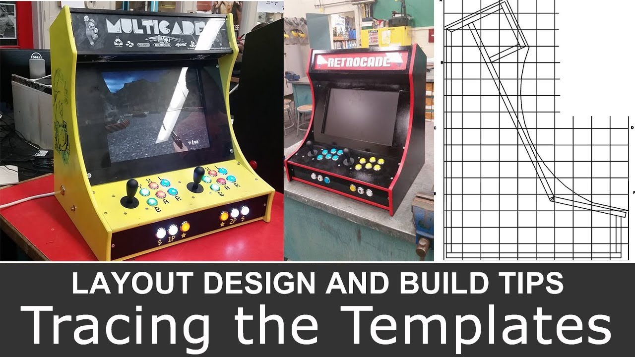 BARTOP ARCADE CABINET Layout Design and Build Tips PART 2