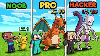 Minecraft - PIXELMON MASTER CHALLENGE! (NOOB vs PRO vs HACKER)
