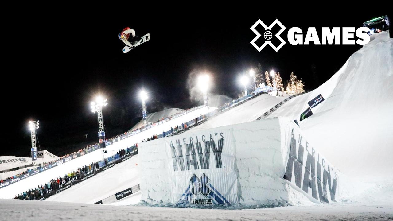 x highlights womens snowboard big air x games aspen