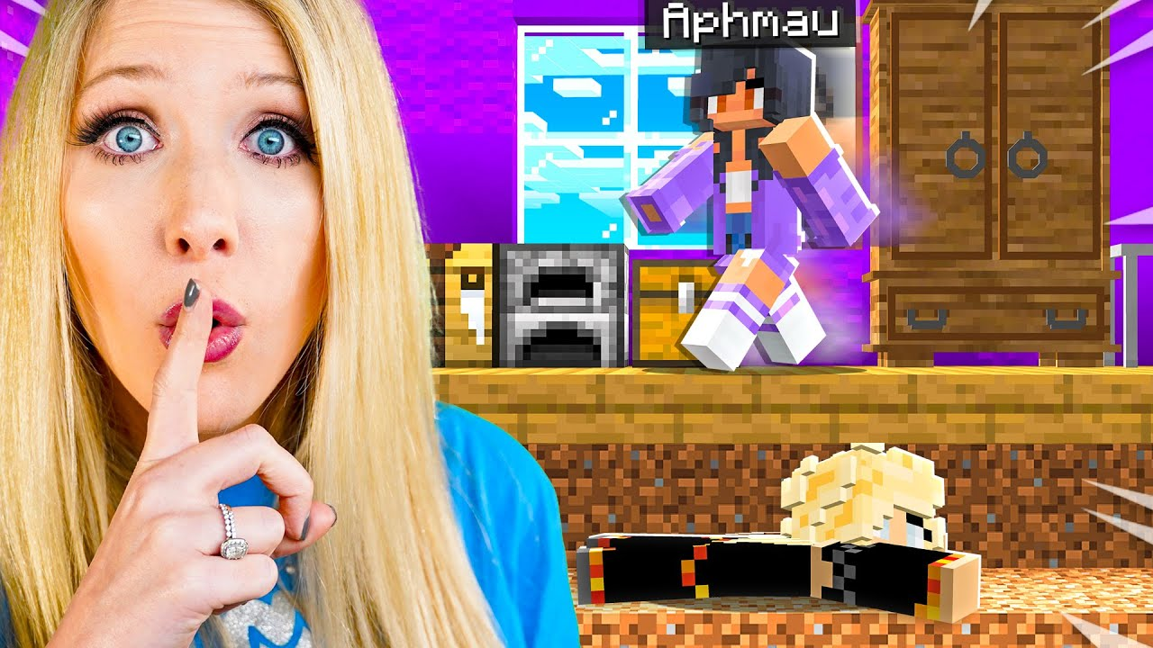 Download Sneaking into APHMAU's Minecraft House for 24 Hours!