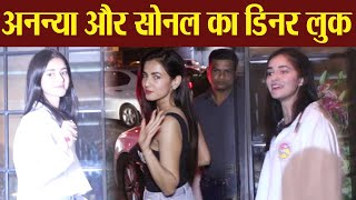 Ananya Pandey and Sonal Chauhan looks stunning in casuals at Soho house | Boldsky