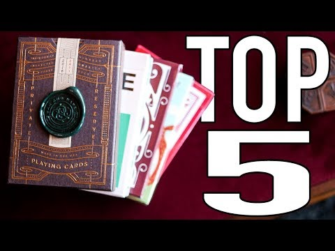BEST PLAYING CARDS - TOP 5 (Art of Play edition)