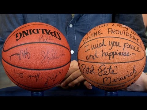 Utah Jazz & Maravich Signed Basketballs | Web Appraisal | Baton Rouge