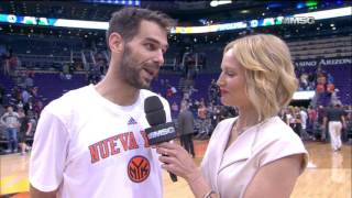 Calderon: Knicks Played Well From the Beginning (3/9)