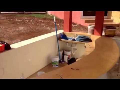 Piscina en chukum y cemento blanco d a de pruebas youtube for Precio de piscinas de cemento