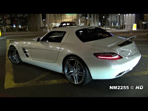 Mercedes SLS AMG Loud Revs and Accelerate!