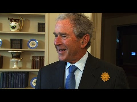 George W. Bush: Dad mocked my paint-stained pants