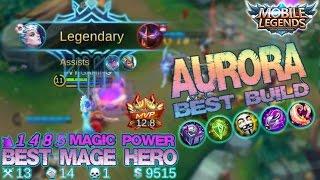 Mobile Legends - New Hero AURORA Best Build [MVP] | 1.4K Magic Damage | Best Mage Hero