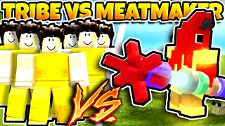 Booga Booga MEATMAKER vs ENTIRE TRIBE (EXCLUSIVE WEAPON!)