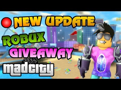 🔴 MAD CITY HUGE NEW HEIST UPDATE | FREE ROBUX Giveaway | Roblox LIVE
