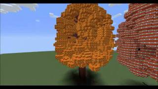 Minecraft Mody - Huge Trees / Wielkie Drzewa #1
