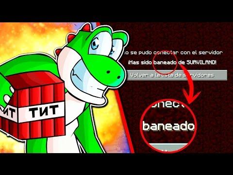 TODO EL SERVIDOR BANEADO POR IDIOTAS   SURVILAND 4.5 EP.82 MINECRAFT SERIE TROLL APIXELADOS