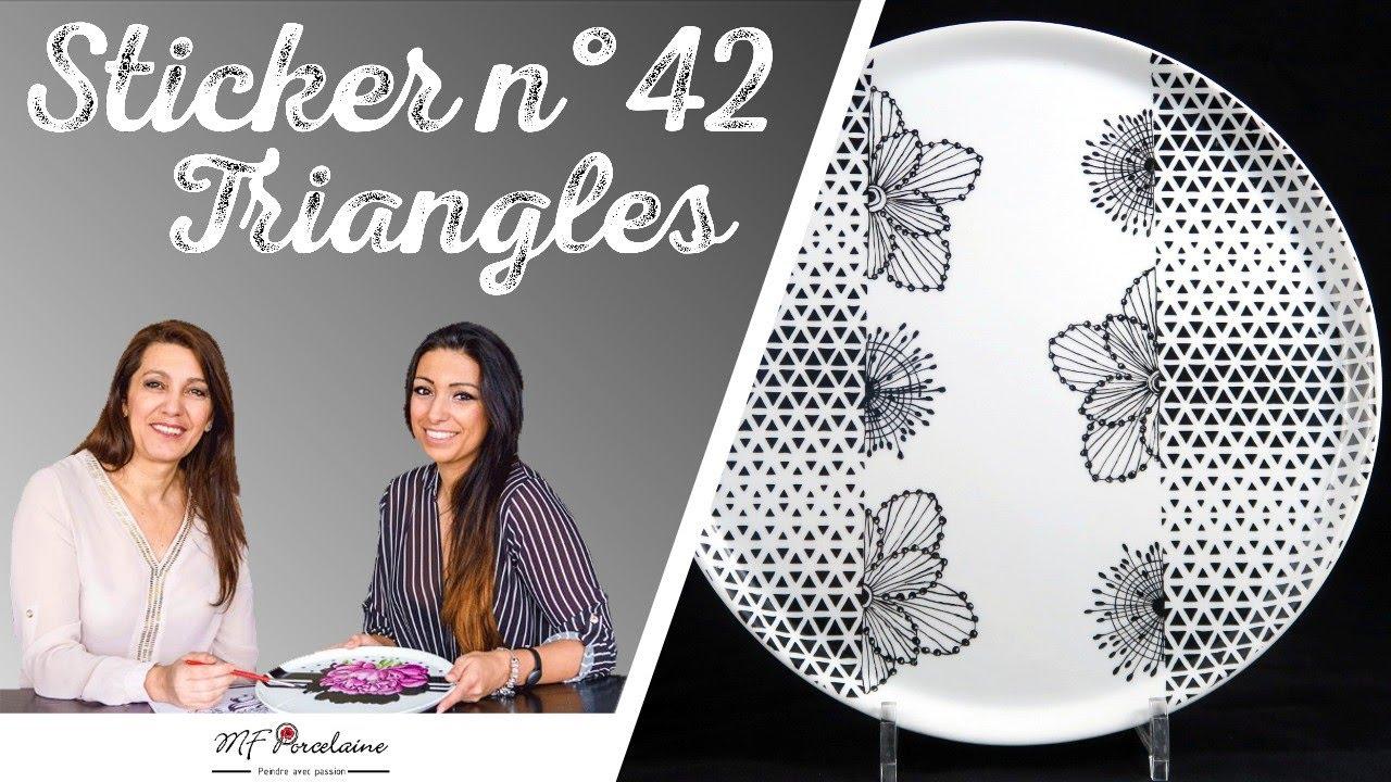 Tuto Peinture Sur Porcelaine peinture sur porcelaine - mfporcelaine / sticker n° 42 triangles / fiche  n°36 souvenir floral