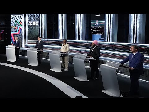 Leaders spar over climate, pandemic and election during French-language debate