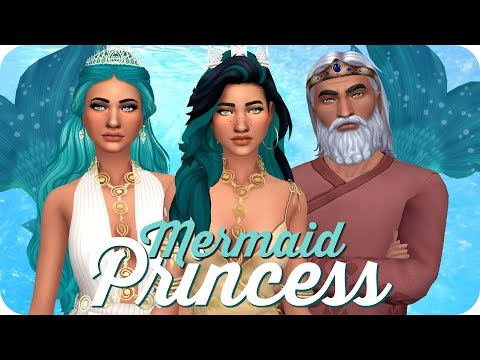 MERMAID ROYAL FAMILY | Sims 4 Island Living Create A Sim
