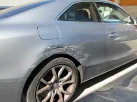 Audi A T Side Impact Accident Repair YouTube - Audi car repair