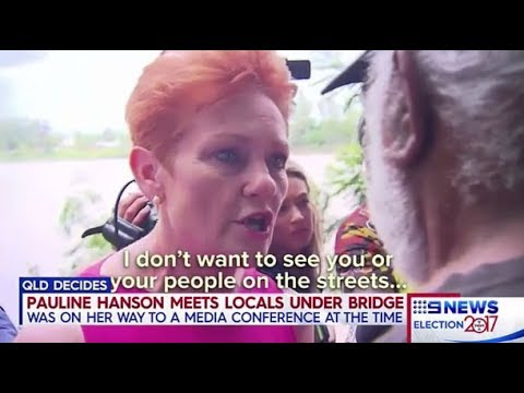 Channel 9 gives Pauline Hanson full marks with indigenous Australians in Rockhampton