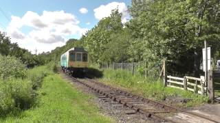 summer sunday scenes br class 121 dmu 121032 on the wensleydale railway 28 06 2015
