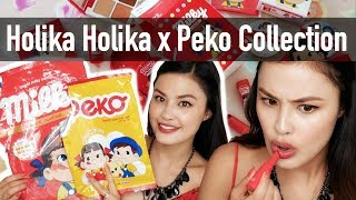 NEW Holika Holika x Sweet Peko Collection Haul, Demo, and First Impressions