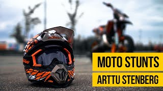 SUPERMOTO STUNTS COMPILATION • Arttu Stenberg burnouts stunts