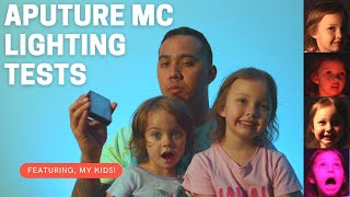 Aputure MC Lighting Tests, How to use the Sidus Link App, AND MY KIDS!