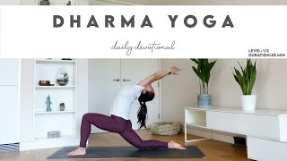 30-Min Dharma Yoga Intermediate | Daily Devotional | Lydia Lim Yoga