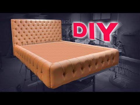 Кровать LIBERTY своими руками | Как сделать мебель с каретной стяжкой.