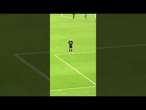 Cristiano Ronaldo's reaction when Al Jazira fans chanted for Messi!