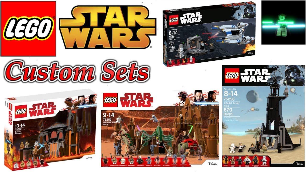 Crazy Custom Lego Star Wars Sets Order 66 Geonosis Arena Youtube