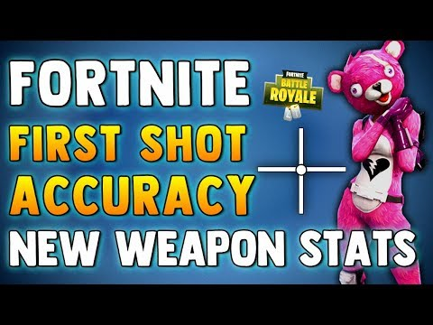 fortnite first shot accuracy new weapon stats changes fortnite battle royale shooting test - fortnite accuracy test