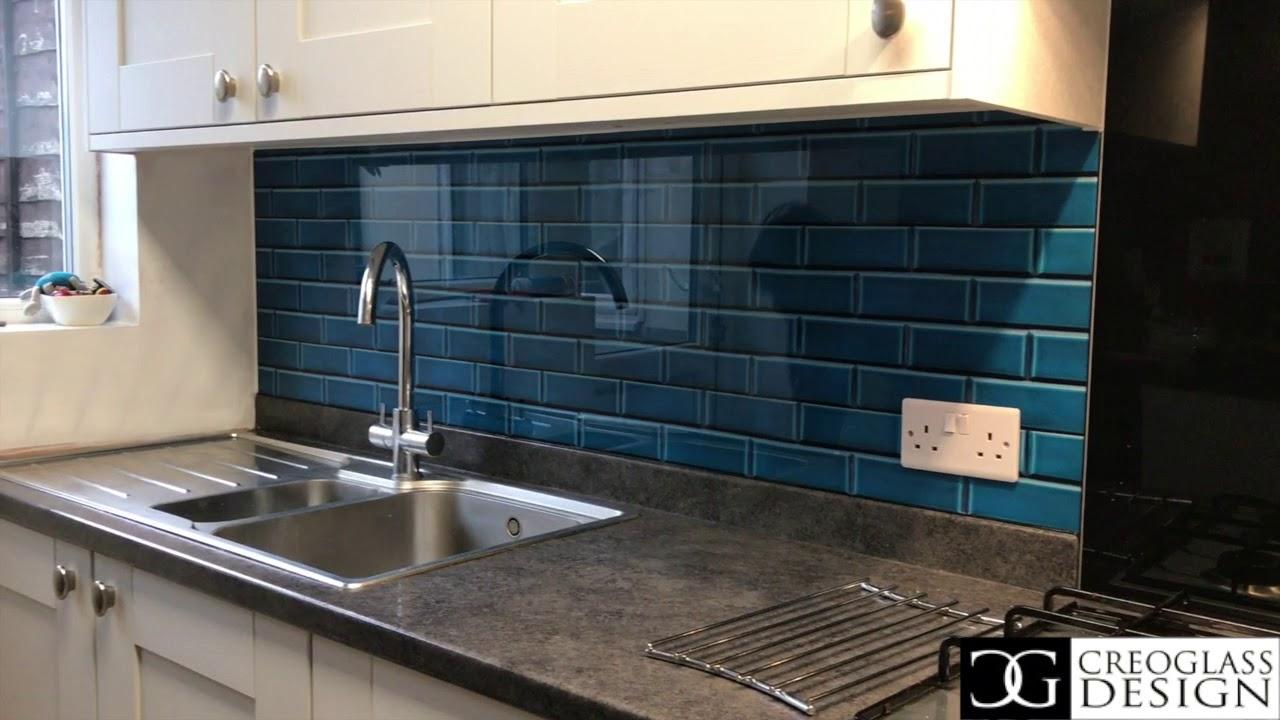 Printed 3d Tile Effect By Creoglass Design Modern Kitchen Splashbacks 01923 819 684 Youtube