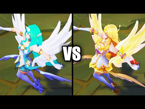 Star Guardian Soraka vs Prestige Star Guardian Soraka Skins Comparison (League of Legends)
